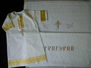Машинная вышивка на крестины